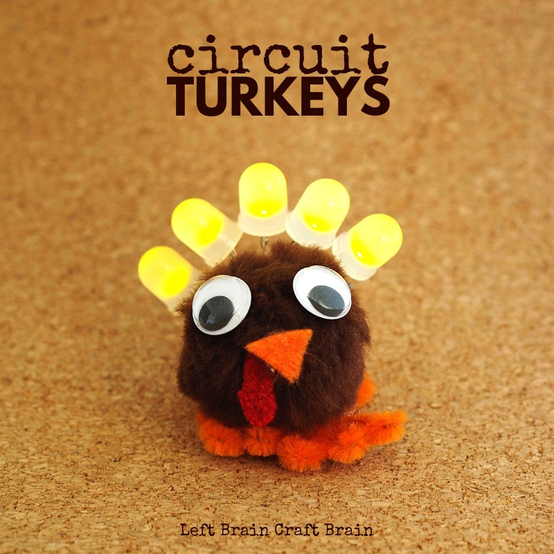 light up pom pom circuit turkey