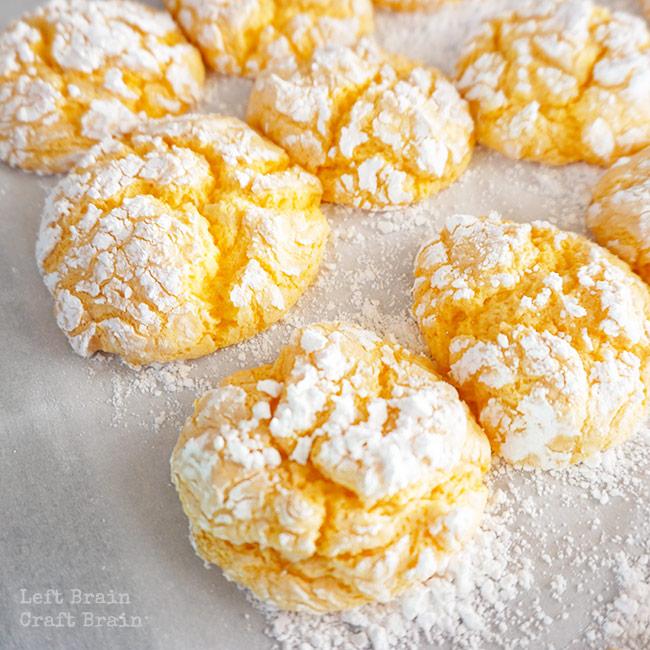 Snowy Orange Crinkle Cookies