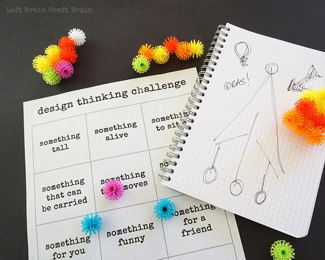 Design Thinking Challenge Printable2 Left Brain Craft Brain
