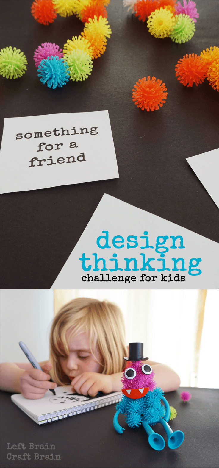 Inspire Design Thinking in your kids with this fun building challenge.