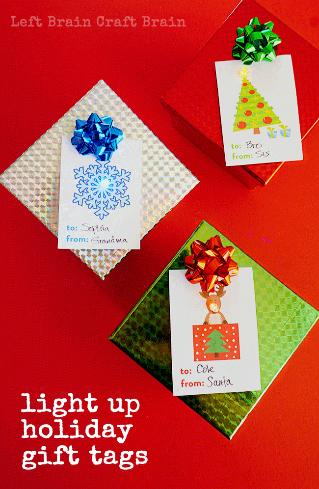 Light up your holiday presents with these adorable light up gift tags. There's a free printable and they're so easy to make!