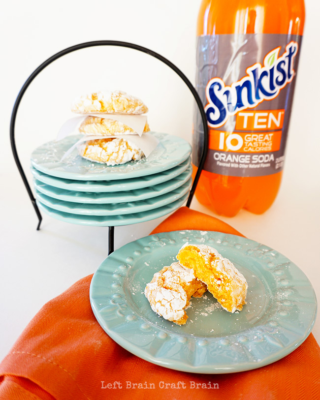 Make these light and sweet Snowy Orange Crinkle Cookies for your next get together. They're so easy with only 4 ingredients!
