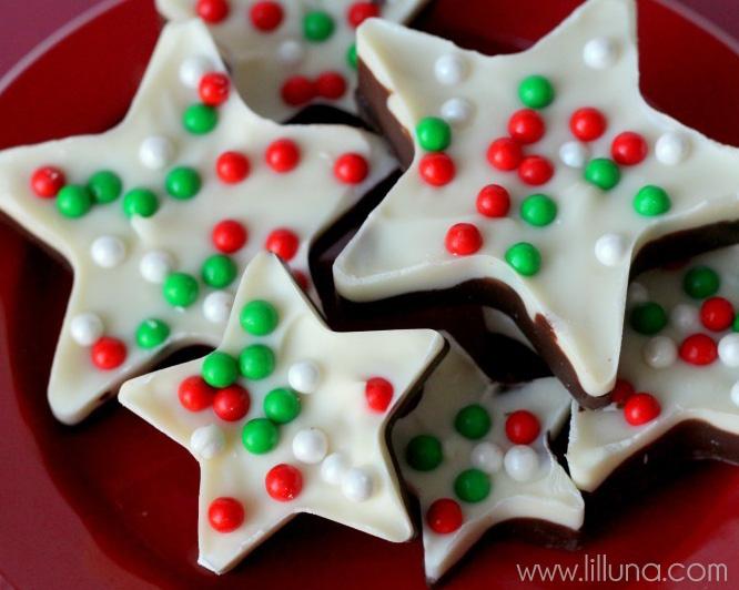 chocolate bark stars