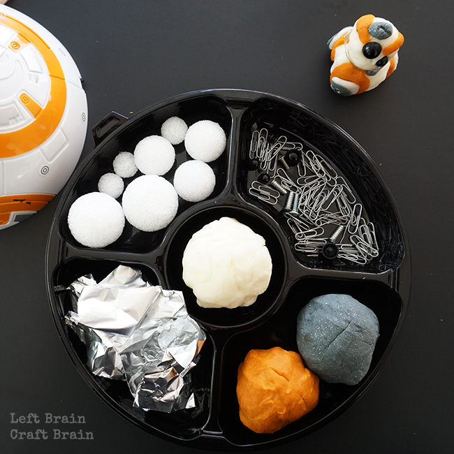 BB8 Play Dough Tray Left Brain Craft Brain