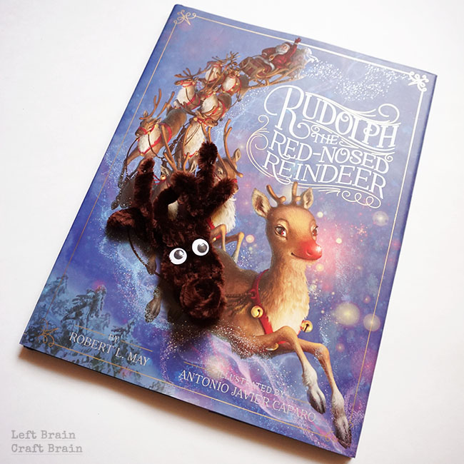 Rudolph Christmas Ornament with Book