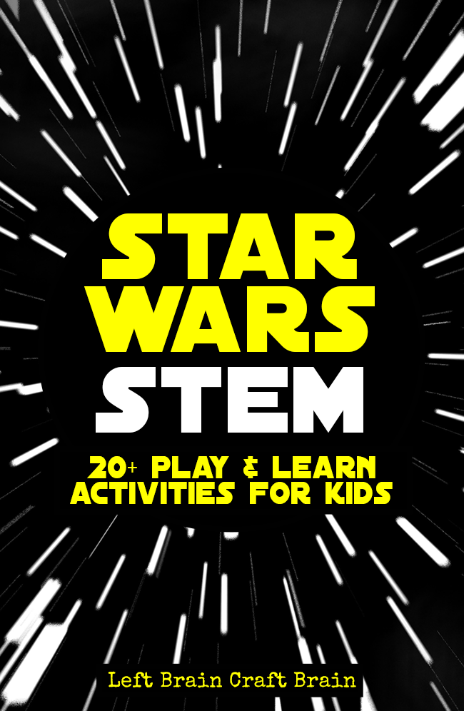 photograph regarding Star Wars Printable Crafts named Star Wars STEM Discovering Pursuits for Young children - Still left Intellect