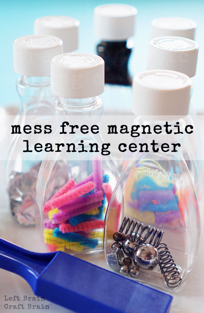 Make this Mess Free Magnetic Learning Center for some fun and easy STEM learning play.