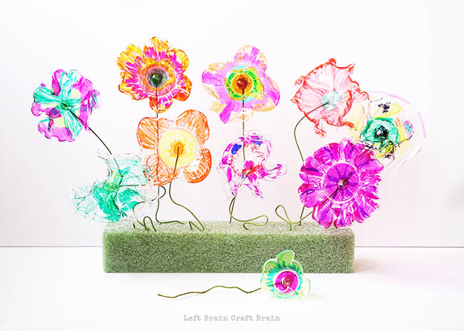 Flower Garden in Foam Left Brain Craft Brain