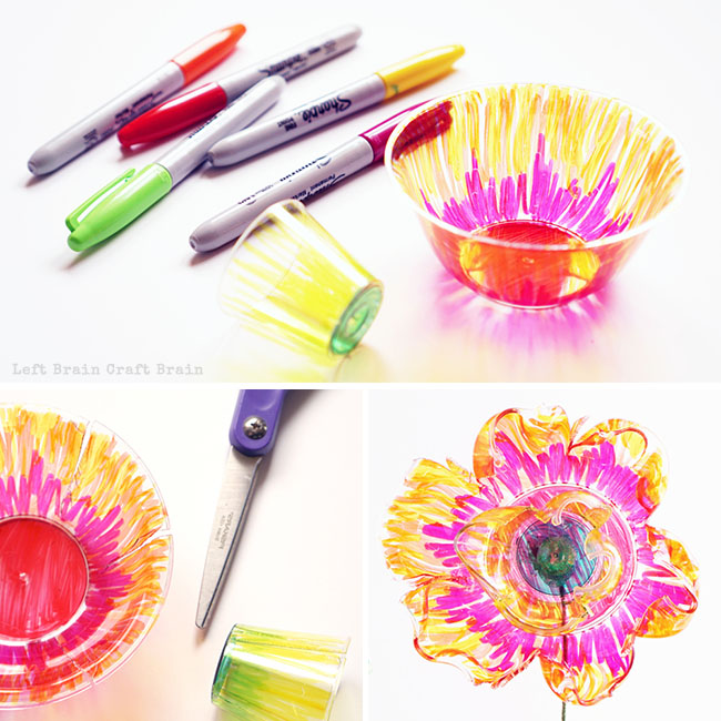 Make Recycled Plastic Flowers Left Brain Craft Brain