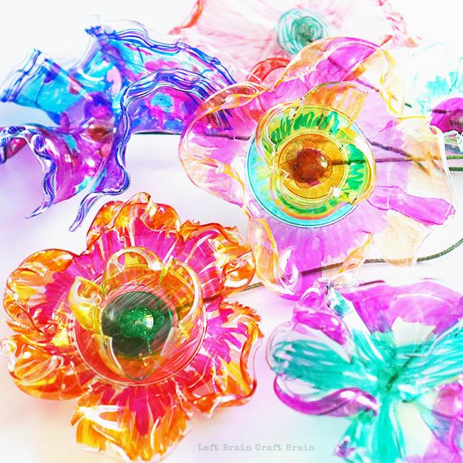 Recycled Flower Closeup Left Brain Craft Brain