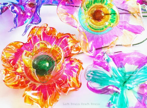 Recycled Plastic Flowers Art and Science Project