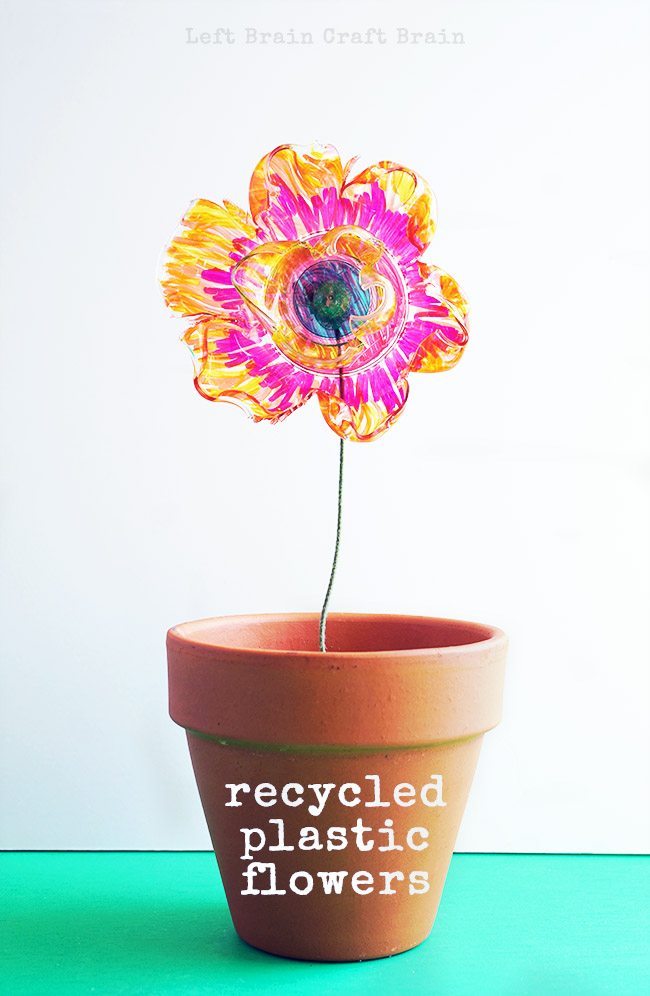 The magic of science makes these recycled plastic flowers beautiful. It's a great STEM / STEAM project for kids.