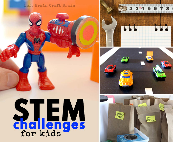 Check out these hands-on STEM Challenges for kids that inspire them to think creatively and solve problems all while having fun building, tinkering and more.