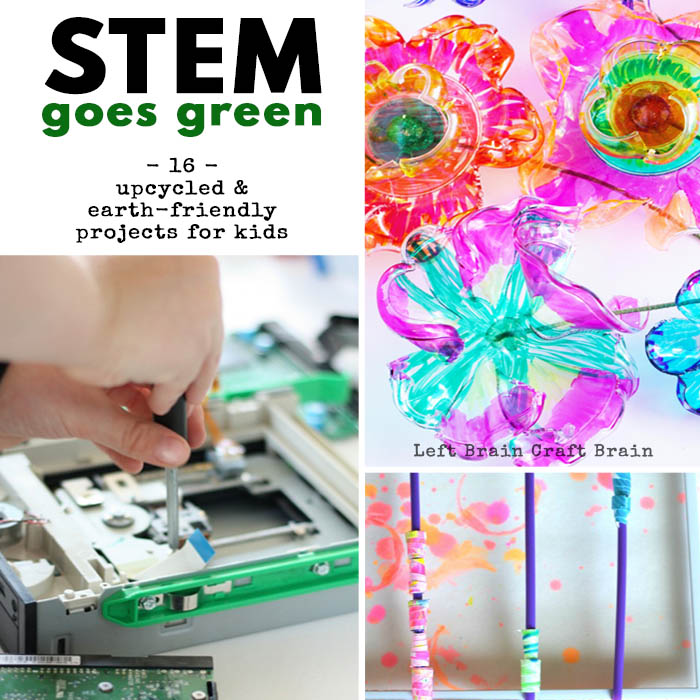 STEM Goes Green 16 Upcycled and Earth Friendly Activities for Kids LBCB FB
