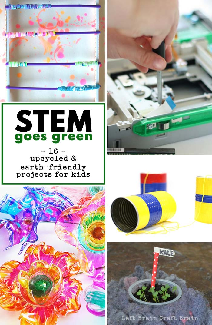 STEM Goes Green Activities for Kids Left Brain Craft Brain