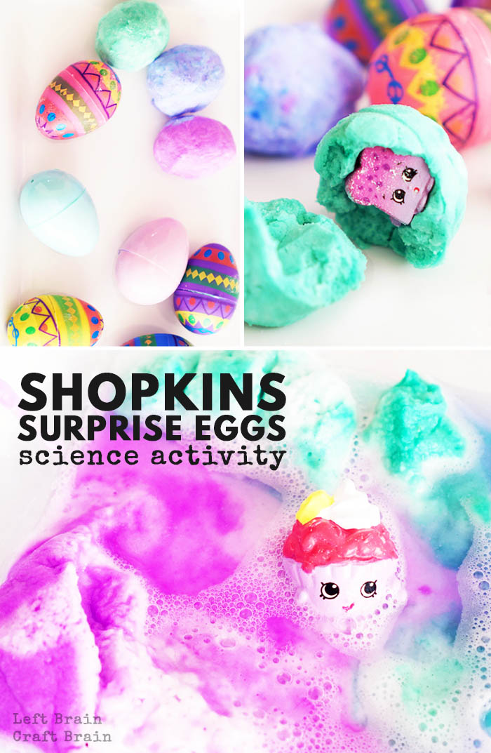 These Shopkins Surprise Eggs combine kids' favorite characters with a fun and foaming science experiment. Perfect for Easter or birthday parties.