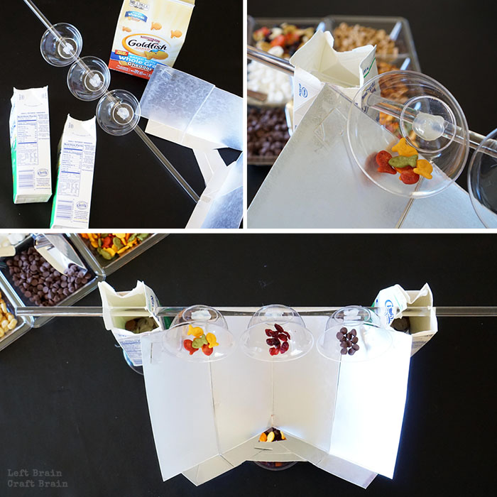 Simple Machine Snack Mix Station Build Collage Left Brain Craft Brain
