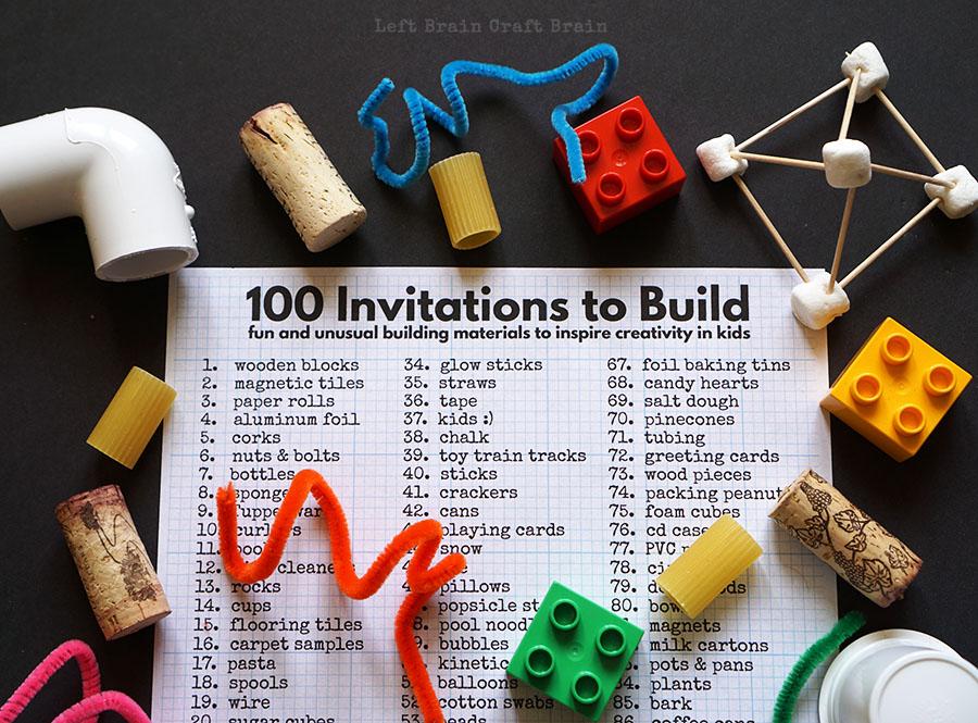 100 Invitations to Build Iggy Peck Architect Left Brain Craft Brain FB link