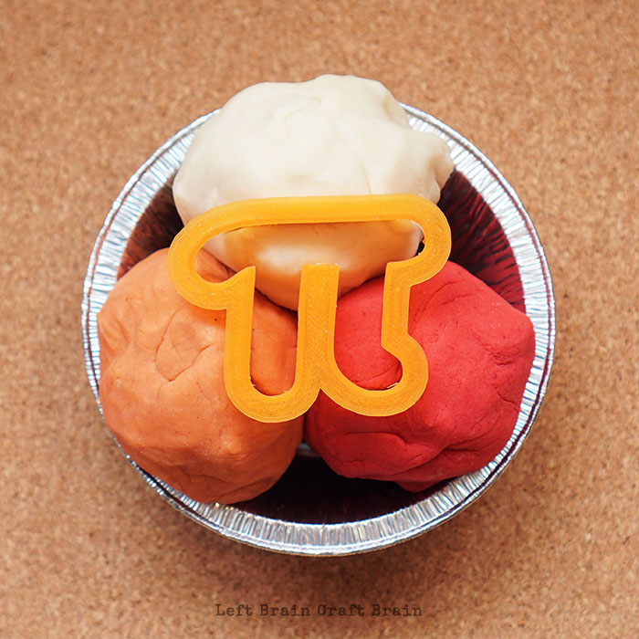 3 Colors of Pi Pie Playdough