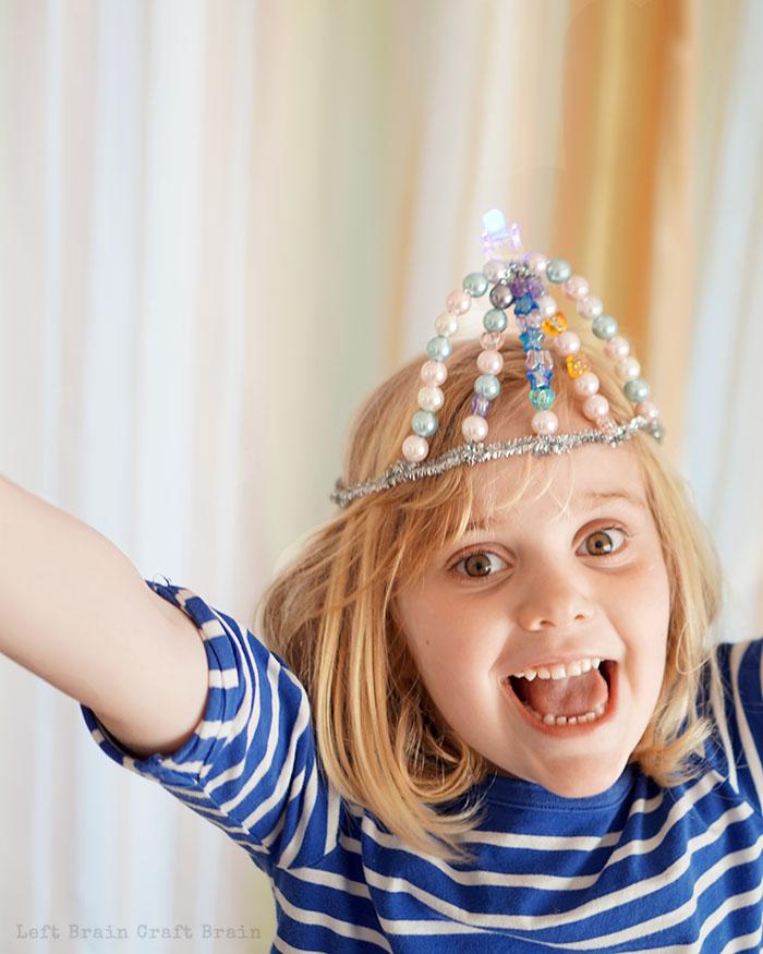 Happy Princess Tiara Left Brain Craft Brain