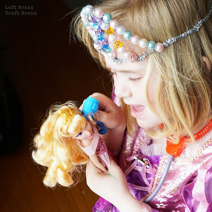 Rapunzel Tiara and Doll Left Brain Craft Brain