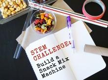 STEM Challenge Snack Mix Machine Left Brain Craft Brain featured