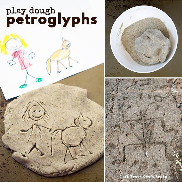 play dough petroglyphs
