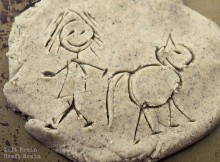 Play Dough Petroglyphs featured Left Brain Craft Brain