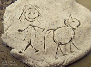 Five Minute Crafts – Play Dough Petroglyphs