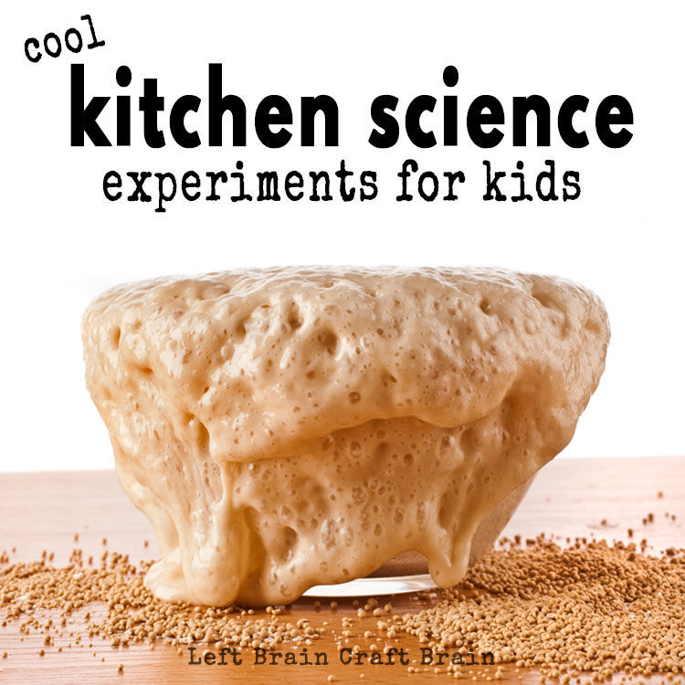 Cool Kitchen Science Experiments for Kids - Left Brain Craft Brain