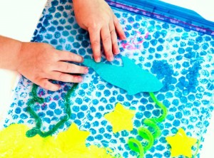 Shark Tank Sensory Play for Shark Week