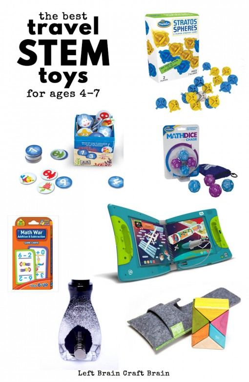 Hitting the road? Bring some fun travel STEM toys and games with you to keep the kids entertained. Favorites for ages 4 to 7 from an engineer mom!