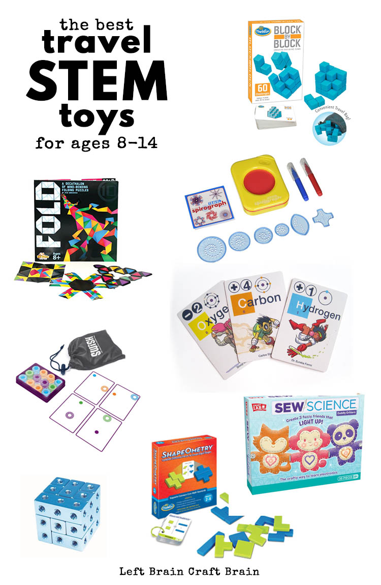 Hitting the road? Bring some fun travel STEM toys and games with you to keep the kids entertained. Favorites for ages 8 to 14 from an engineer mom!