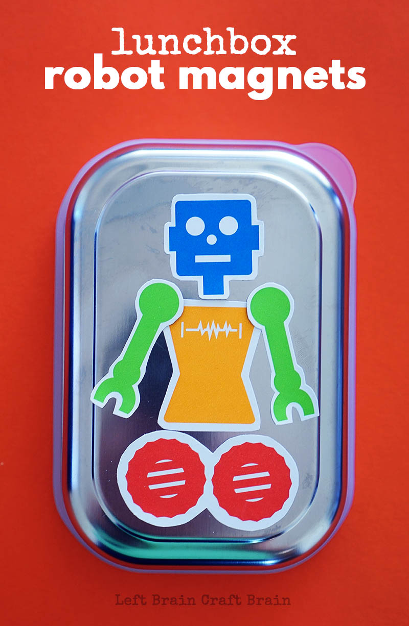 Make lunchtime fun with these build your own Lunchbox Robot Magnets.