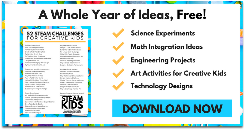 STEAM Kids Free Printable 800x419