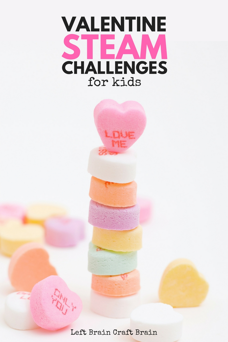 Have some fun with sweet science, technology, engineering, art and math activities this February with these Valentine's Day STEAM Challenge Cards.