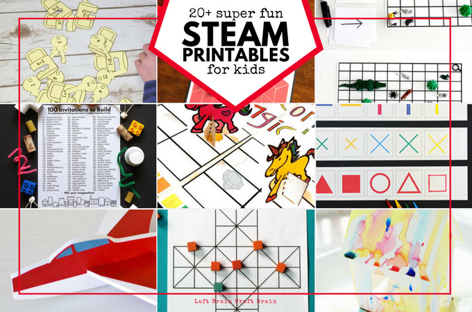 photograph relating to Printable Steam Gift Card referred to as STEAM Printable Things to do for Little ones - Still left Thoughts Craft Thoughts