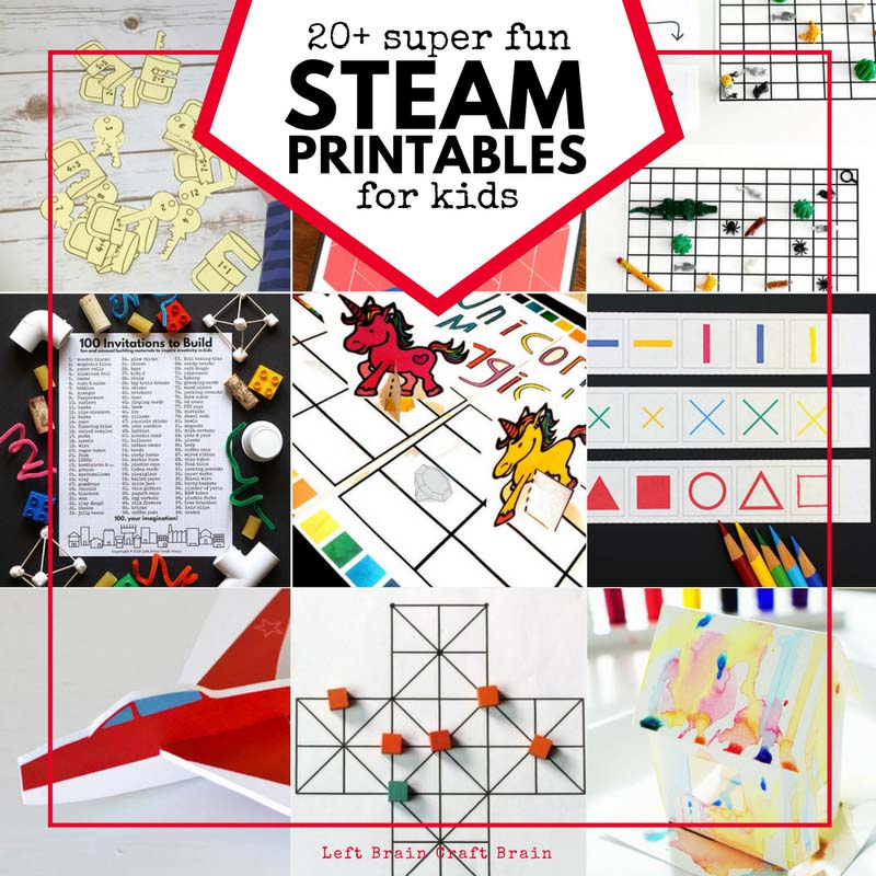20+ Super Fun STEAM Printables for Kids