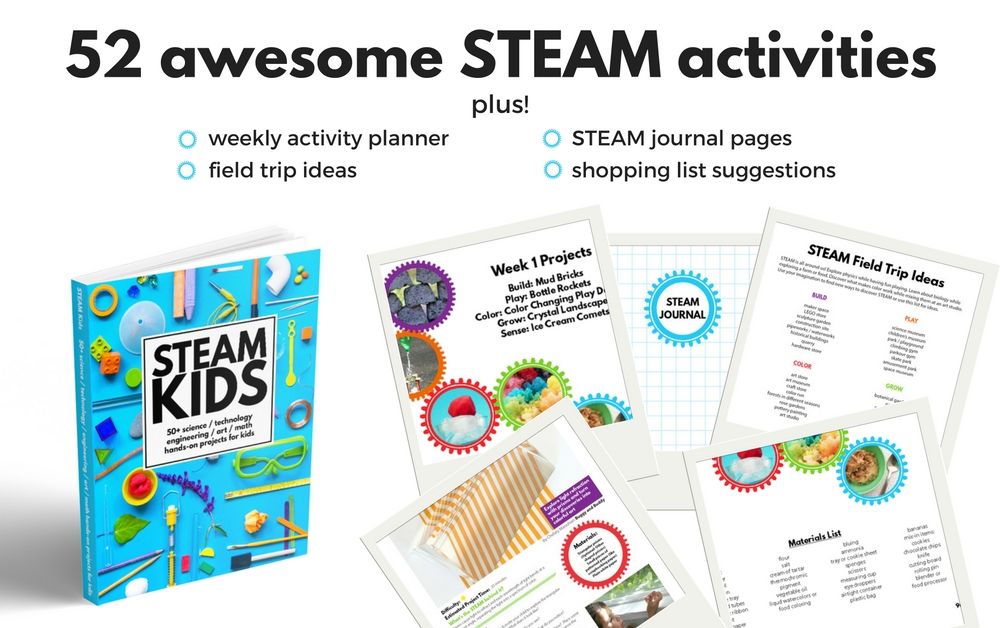 STEAM Kids hands on science, technology, engineering, art, and math projects for kids