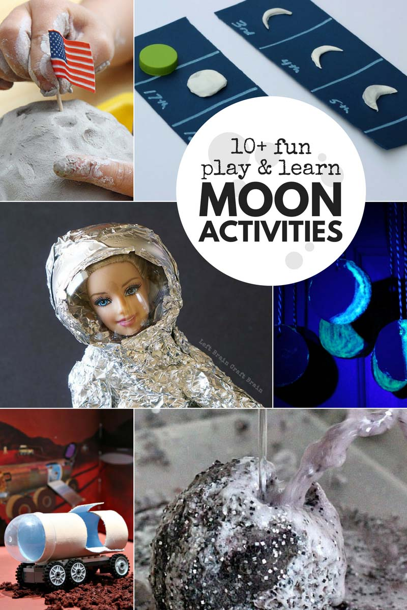 Add some fun to your space unit with these unique play and learn moon activities. You kids will love learning about the moon!