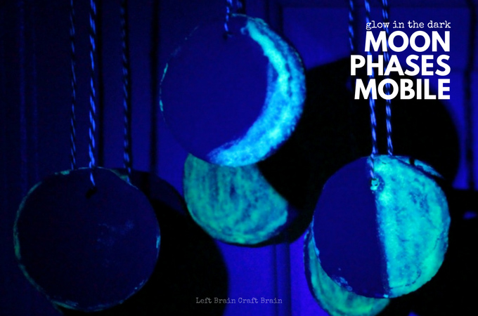 Glow in the Dark Moon Phases Mobile