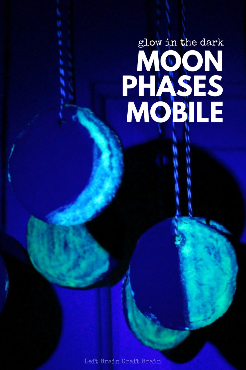 Learn about phases of the moon with this fun Glow in the Dark Moon Phases Mobile craft. It's a perfect space unit STEAM project.