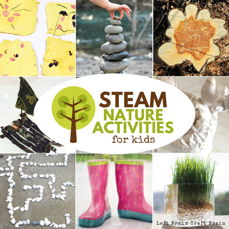 Take learning outside with STEAM Nature Activities for Kids. Learn using science, tech, engineering, art, & math while you explore plants, animals, & more!