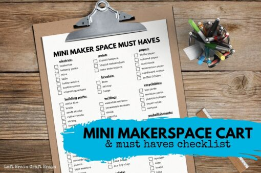 Mini Maker Space Must Haves Cart and Checklist 1360x900