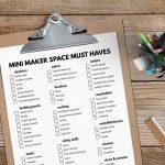 Mini Maker Space Cart for Kids