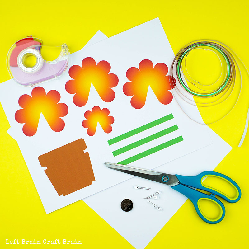 light up pop up flower circuit card left brain craft brain