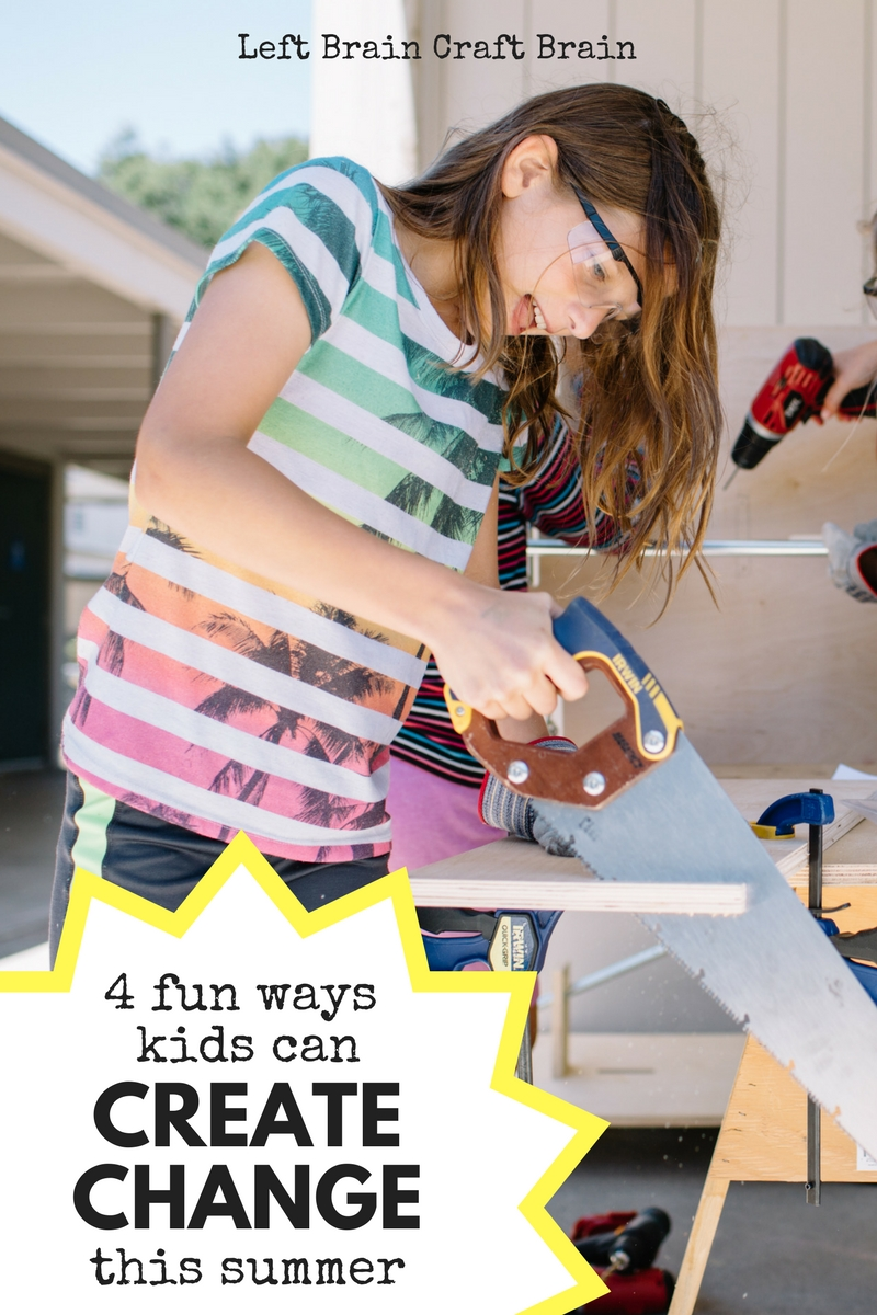 Help kids create change this summer with 4 activities that make being a leader and an innovator fun.