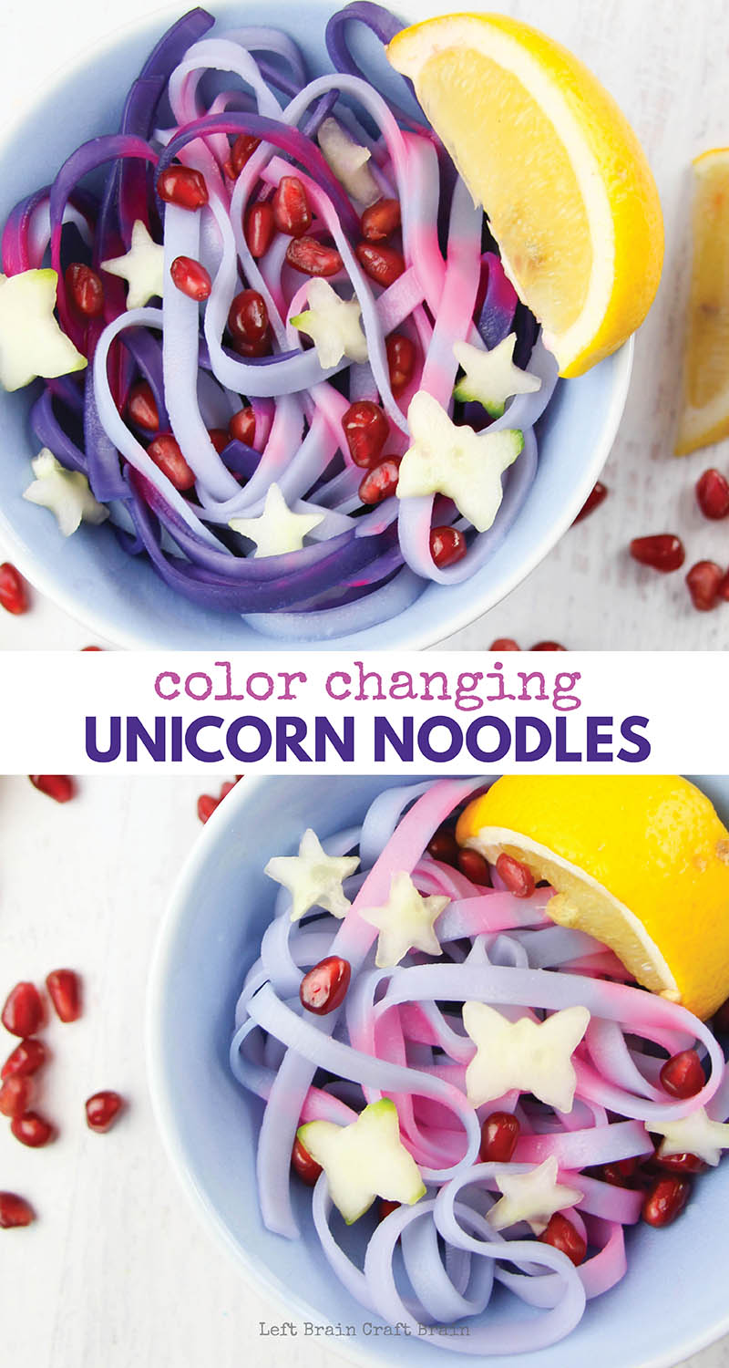Magical color changing unicorn noodles use a bit of science to create their gorgeous pink and purple colors.
