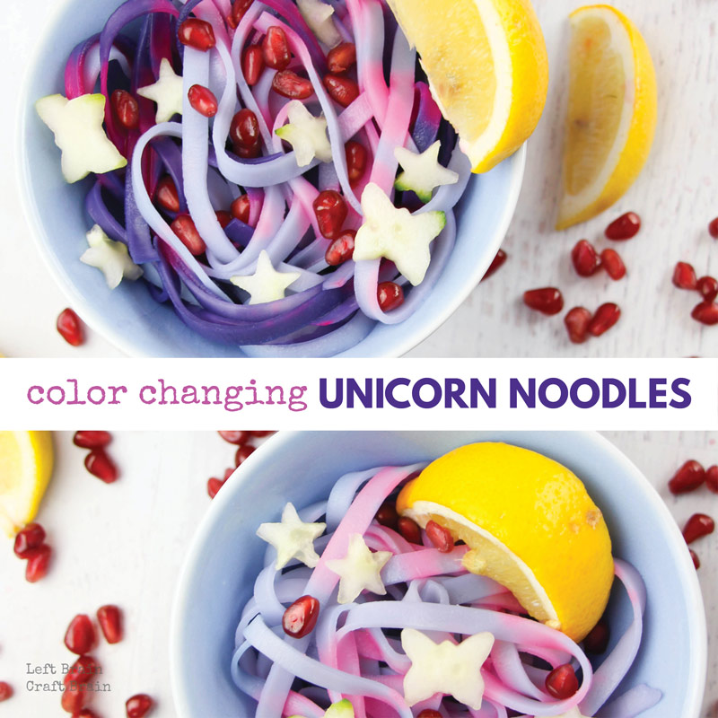 color changing unicorn noodles