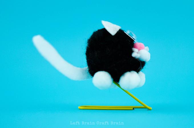 A Pounce of Pouncing Pom Pom Cats